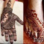 Фото тату Узоры хной (tattoo henna) (значение) - пример рисунка - 022 tatufoto.com