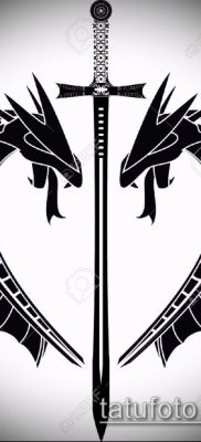 Фото тату дракон и меч (tattoo) (значение) – пример рисунка – 004 tatufoto.com