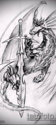 Фото тату дракон и меч (tattoo) (значение) – пример рисунка – 007 tatufoto.com