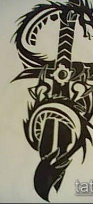 Фото тату дракон и меч (tattoo) (значение) – пример рисунка – 019 tatufoto.com