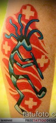 Фото тату кокопелли (Kokopelli tattoos) (значение) – пример рисунка – 059 tatufoto.com