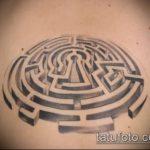 Фото тату лабиринт рисунок (Tattoo labyrin) (значение) - пример рисунка - 002 tatufoto.com