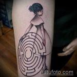 Фото тату лабиринт рисунок (Tattoo labyrin) (значение) - пример рисунка - 005 tatufoto.com