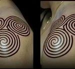 Фото тату лабиринт рисунок (Tattoo labyrin) (значение) - пример рисунка - 010 tatufoto.com
