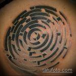 Фото тату лабиринт рисунок (Tattoo labyrin) (значение) - пример рисунка - 012 tatufoto.com
