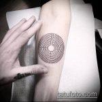 Фото тату лабиринт рисунок (Tattoo labyrin) (значение) - пример рисунка - 014 tatufoto.com