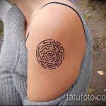 Фото тату лабиринт рисунок (Tattoo labyrin) (значение) - пример рисунка - 015 tatufoto.com