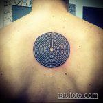 Фото тату лабиринт рисунок (Tattoo labyrin) (значение) - пример рисунка - 016 tatufoto.com