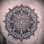 Фото тату лабиринт рисунок (Tattoo labyrin) (значение) - пример рисунка - 033 tatufoto.com