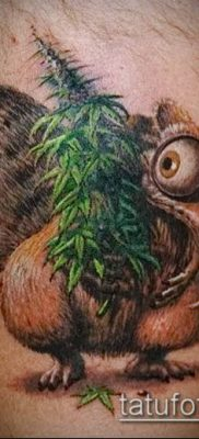 Фото тату марихуанна (Tattoo Marijuana) (значение) – пример рисунка – 001 tatufoto.com