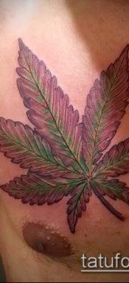 Фото тату марихуанна (Tattoo Marijuana) (значение) – пример рисунка – 003 tatufoto.com