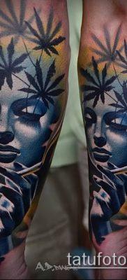 Фото тату марихуанна (Tattoo Marijuana) (значение) – пример рисунка – 009 tatufoto.com