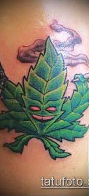 Фото тату марихуанна (Tattoo Marijuana) (значение) – пример рисунка – 014 tatufoto.com