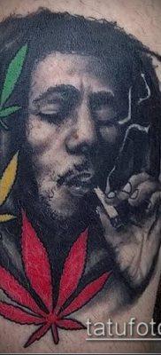 Фото тату марихуанна (Tattoo Marijuana) (значение) – пример рисунка – 023 tatufoto.com