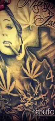 Фото тату марихуанна (Tattoo Marijuana) (значение) – пример рисунка – 045 tatufoto.com