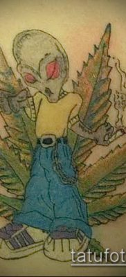 Фото тату марихуанна (Tattoo Marijuana) (значение) – пример рисунка – 068 tatufoto.com