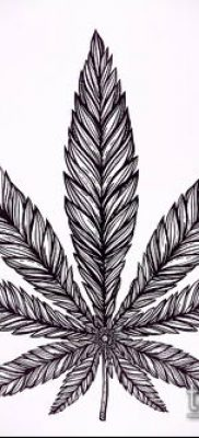 Фото тату марихуанна (Tattoo Marijuana) (значение) – пример рисунка – 090 tatufoto.com