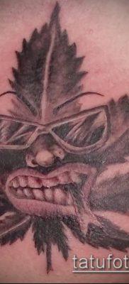 Фото тату марихуанна (Tattoo Marijuana) (значение) – пример рисунка – 093 tatufoto.com