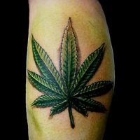 Значение тату конопля (марихуана)