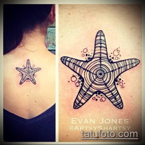 Фото тату морская звезда (Tattoo starfish) (значение) - пример рисунка - 035 tatufoto.com