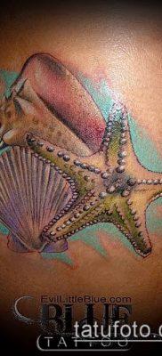 Фото тату морская звезда (Tattoo starfish) (значение) – пример рисунка – 054 tatufoto.com