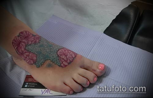 Фото тату морская звезда (Tattoo starfish) (значение) - пример рисунка - 061 tatufoto.com