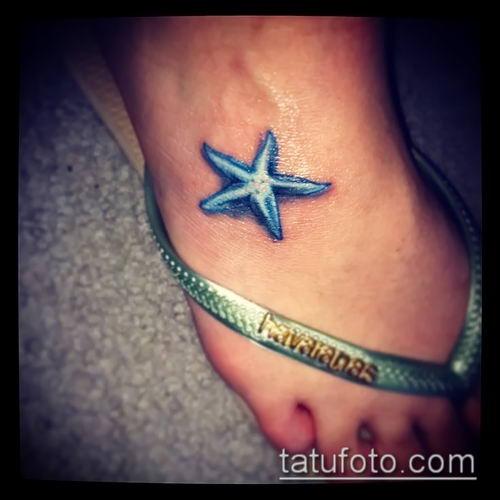 Фото тату морская звезда (Tattoo starfish) (значение) - пример рисунка - 065 tatufoto.com