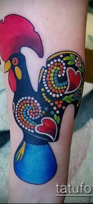 Фото тату петух (Tattoo cock) (значение) – пример рисунка – 029 tatufoto.com