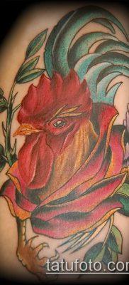 Фото тату петух (Tattoo cock) (значение) – пример рисунка – 049 tatufoto.com