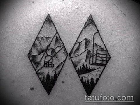 Фото тату ромб (Tattoo rhombus figure) (значение) - пример рисунка - 069 tatufoto.com