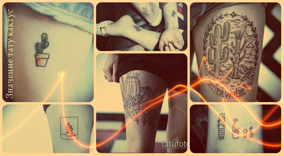 Значение тату кактус - фото примеры готовых татуировок