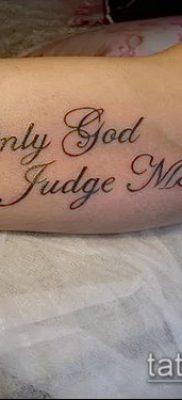 Фото тату Бог мне судья – 25052017 – пример – 045 Tattoo God is my judge