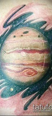 Фото тату Юпитер планет – пример рисунка – 27052017 – пример – 011 Tattoo Jupiter planet