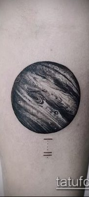 Фото тату Юпитер планет – пример рисунка – 27052017 – пример – 021 Tattoo Jupiter planet