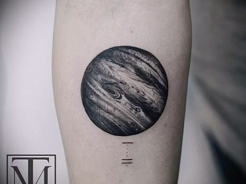 Фото тату Юпитер планет - пример рисунка - 27052017 - пример - 021 Tattoo Jupiter planet