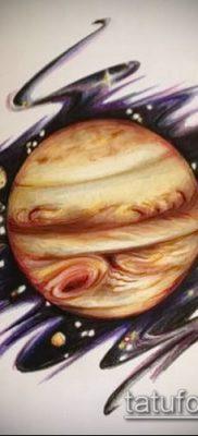 Фото тату Юпитер планет – пример рисунка – 27052017 – пример – 022 Tattoo Jupiter planet