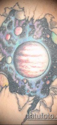 Фото тату Юпитер планет – пример рисунка – 27052017 – пример – 027 Tattoo Jupiter planet