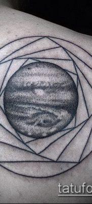 Фото тату Юпитер планет – пример рисунка – 27052017 – пример – 032 Tattoo Jupiter planet