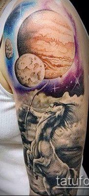 Фото тату Юпитер планет – пример рисунка – 27052017 – пример – 033 Tattoo Jupiter planet