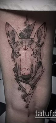 Фото тату бультерьер – 18052017 – пример – 037 Bull terrier tattoo
