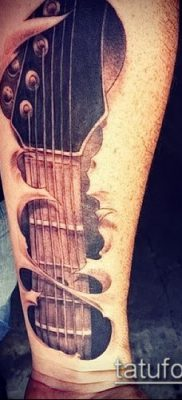 Фото тату гитара – 25052017 – пример – 011 Tattoo guitar