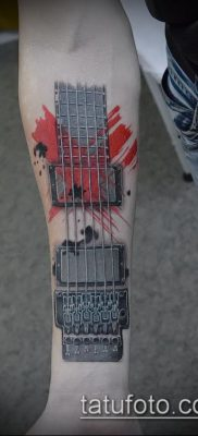 Фото тату гитара – 25052017 – пример – 042 Tattoo guitar