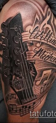Фото тату гитара – 25052017 – пример – 058 Tattoo guitar