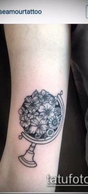 Фото тату глобус – пример рисунка – 26052017 – пример – 001 Tattoo globe