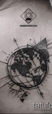 Фото тату глобус – пример рисунка – 26052017 – пример – 012 Tattoo globe