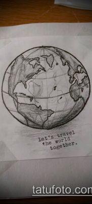 Фото тату глобус – пример рисунка – 26052017 – пример – 014 Tattoo globe
