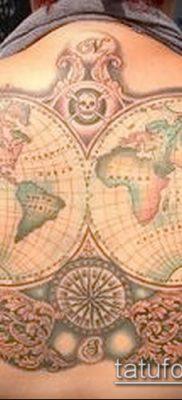 Фото тату глобус – пример рисунка – 26052017 – пример – 025 Tattoo globe
