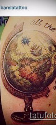 Фото тату глобус – пример рисунка – 26052017 – пример – 031 Tattoo globe