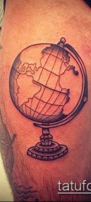 Фото тату глобус – пример рисунка – 26052017 – пример – 034 Tattoo globe