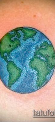 Фото тату глобус – пример рисунка – 26052017 – пример – 045 Tattoo globe